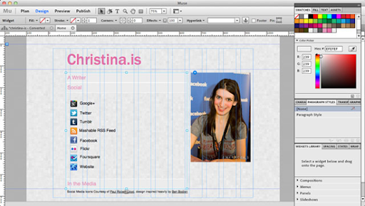 adobe muse screenshot