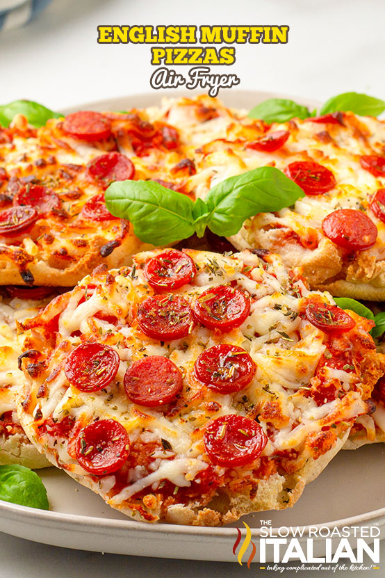 english muffin pizza in the air fryer