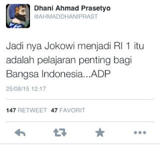 ahmad dhani kecewa dengan kepemimpinan jokowi