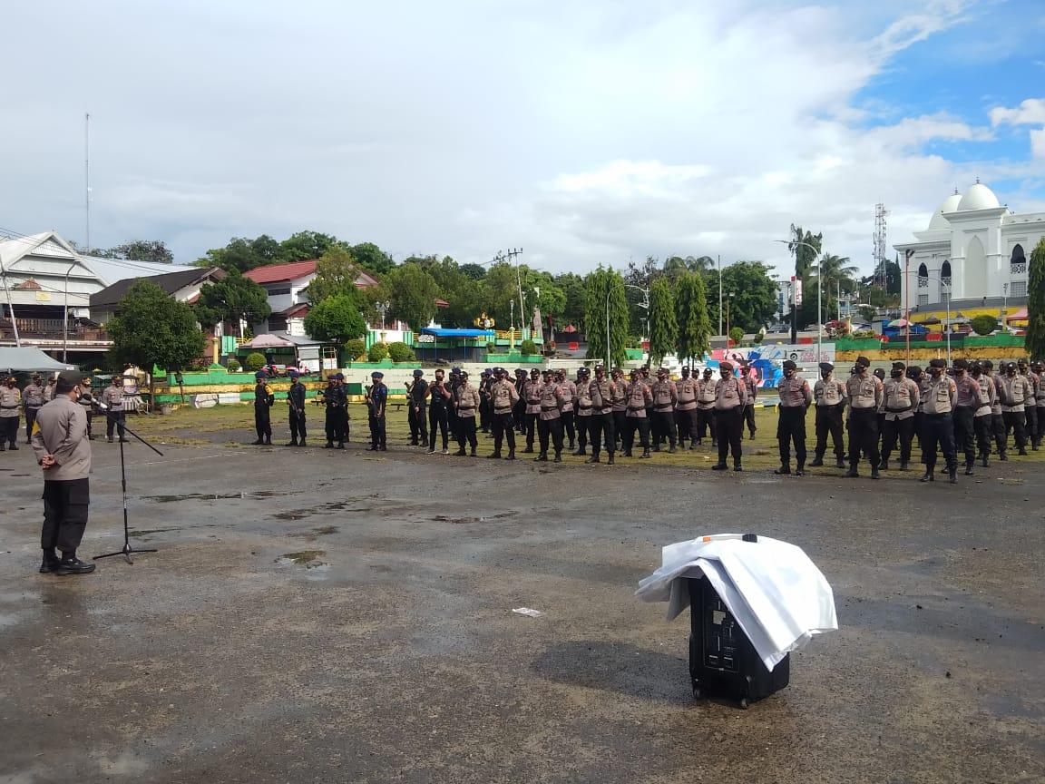 Pasukan Pengamanan Pilkada 2020 BKO Polres Soppeng di Lepas, Wakapolres Soppeng Ucap Terima Kasih
