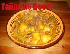 Tajine de boeuf, haricots verts et pommes de terre
