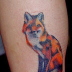 fox - Terrestrial Animals Tattoos