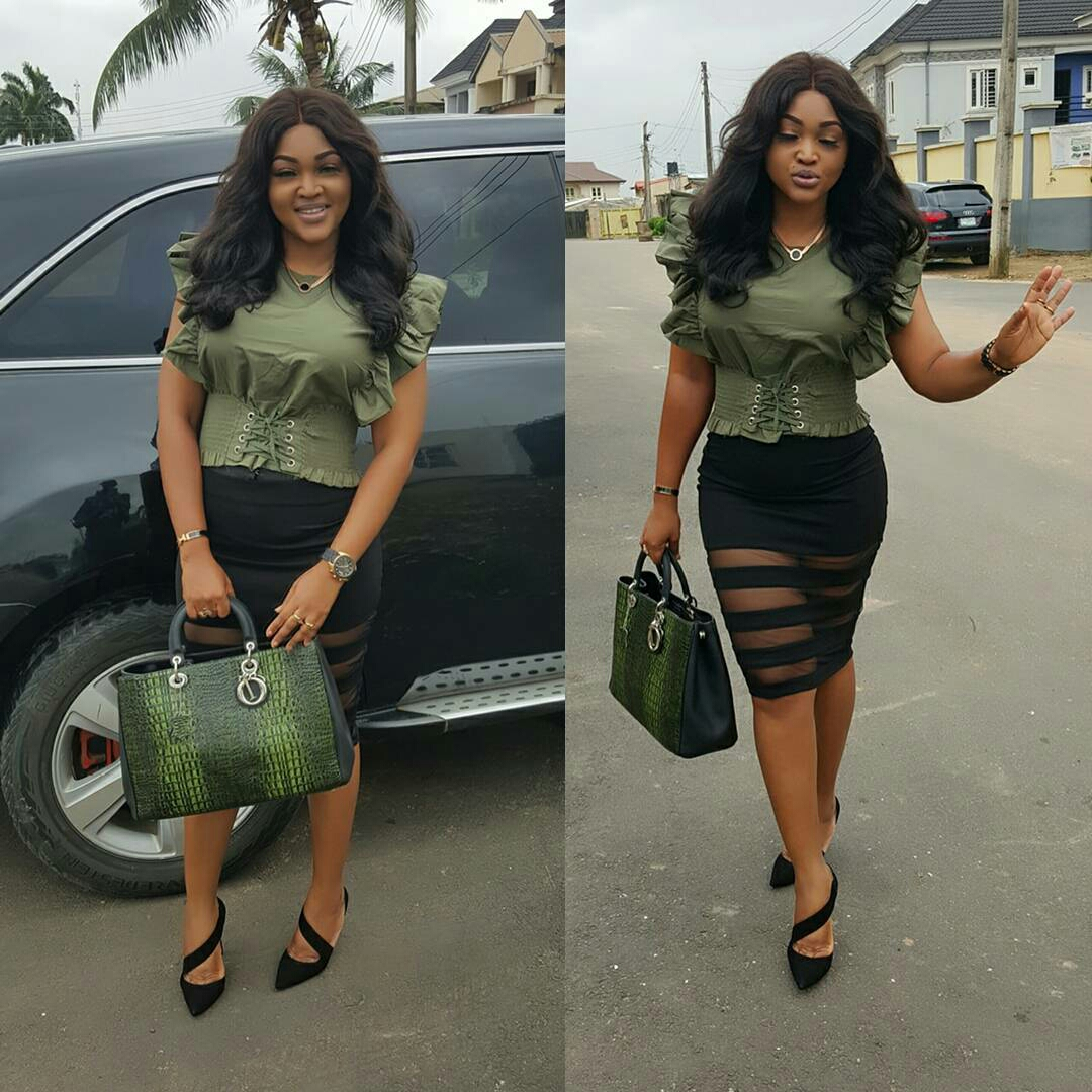 Photos: Checkout Actress Mercy Aigbe Monday's Outfit