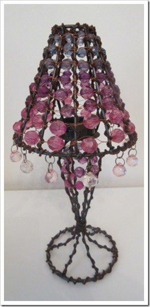 beaded tealight lamp