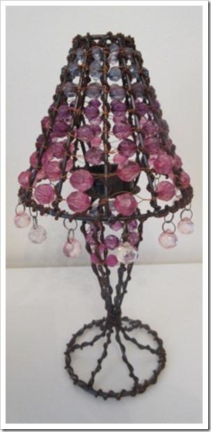 beaded tealight lamp