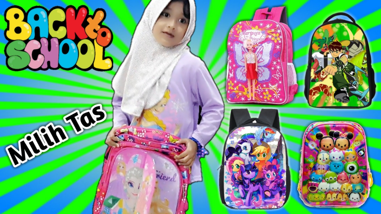 Nafis WQ  BACK TO SCHOOL SHOPPING 💖 Bingung Milih Tas Yang Barbie ... bef1613346