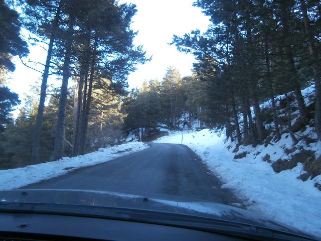 Carretera desde PuyValador al Coll de Creu