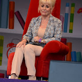 WWW.ENTSIMAGES.COM -   Barbara Windsor reading   at   Get Reading festival at Trafalgar Square, London Organised by the Evening Standard in partnership with e-reader firm NOOK July 13th 2013                                             Photo Mobis Photos/OIC 0203 174 1069