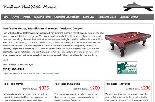 Kenric Leblanc Google - Portland pool table movers