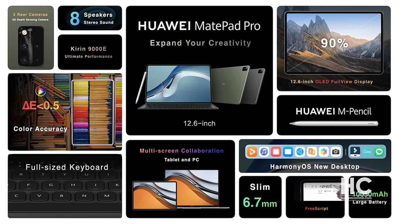 วางจำหน่ายแล้ววันนี้! HUAWEI MatePad Pro 12.6-inch แท็บเล็ตพรีเมียม จอใหญ่ รองรับปากกาและคีย์บอร์ด พร้อมสร้างมิติใหม่ในการทำงานเอาใจสายอาร์ตด้วยฟีเจอร์ระดับโปรที่มืออาชีพคู่ควร
