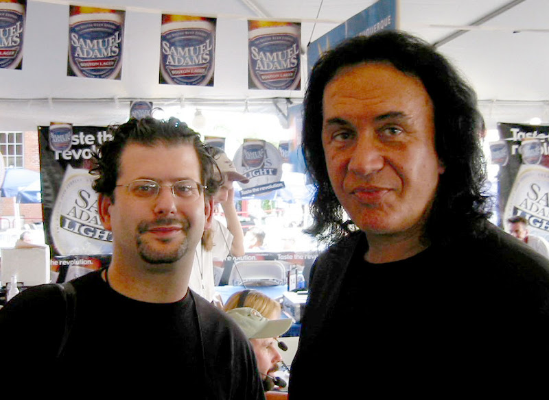 Ron Louis With Gene Simmons Of Kiss, David Copeland