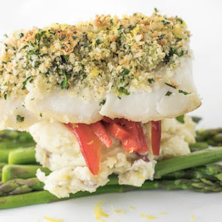 Herb Crusted Baked Cod.