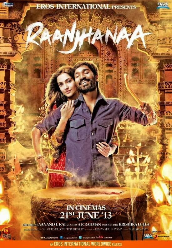 Cover of Raanjhanaa (2013) Hindi Movie Mp3 Songs Free Download Listen Online at Alldownloads4u.Com