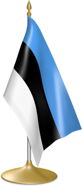 Estonian table flags - desk flags
