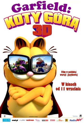 Polski plakat filmu 'Garfield: Koty Górą'