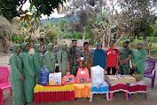 Koramil 1412-05/Pakue Salurkan Bantuan Pada Korban Kebakaran