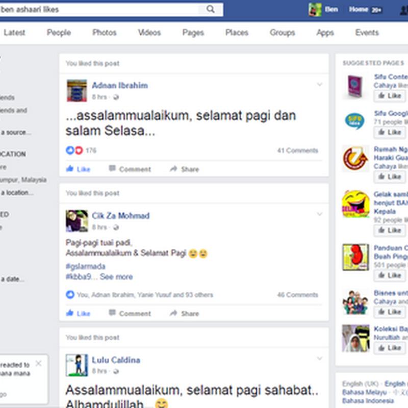 Nak 'stalk 'tak kekasih hati anda di Facebook ?