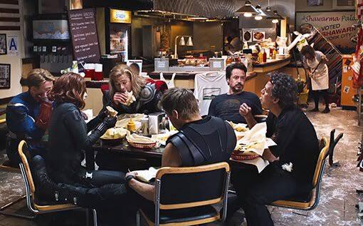 Avenger Shawarma Scene