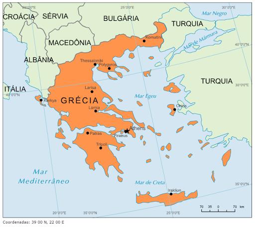 mapa da grecia Blog de Geografia: Mapa da Grécia mapa da grecia