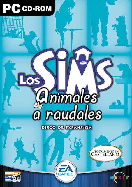 Carátula Los Sims Animales a Raudales