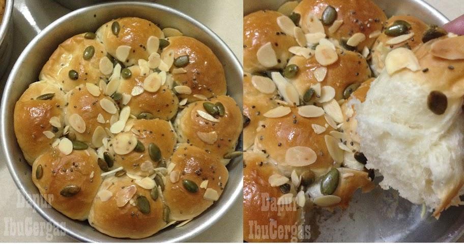 resepi roti bun mudah, roti sarang lebah sedap dan gebu