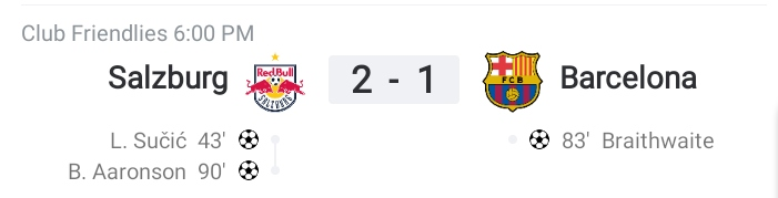 Friendly: Barcelona fell to 2-1 defeat against RB Salzburg (Highlights) 2021-2022