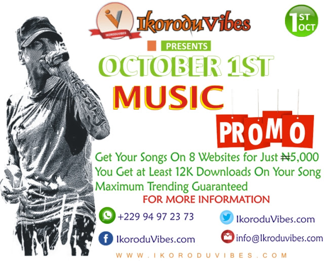 Promo!!! Get Your Track/Song On 8 Websites With Just N5000 (Enjoy IkoroduVibes October1st Music Promo While It Lasts...)