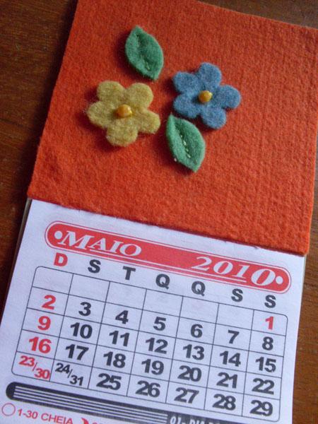 Customizando um Calendário com Ímã para Geladeira, Mural ou Quadro de Avisos/ Recados