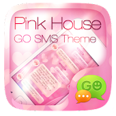 GO SMS PRO PINK HOUSE THEME
