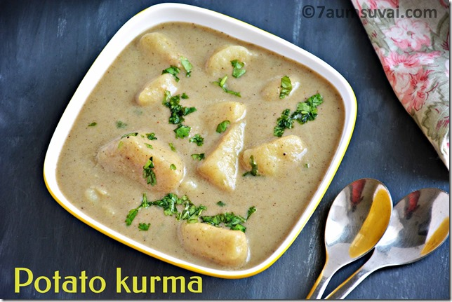 Potato white kurma