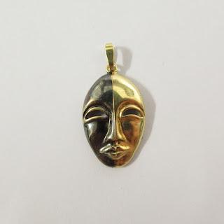 18K Gold Mask Pendant