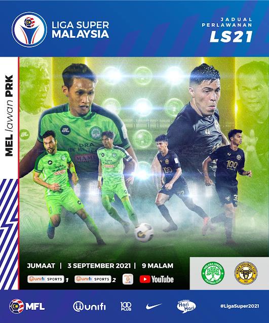 Live Streaming Melaka vs Perak 3.9.2021