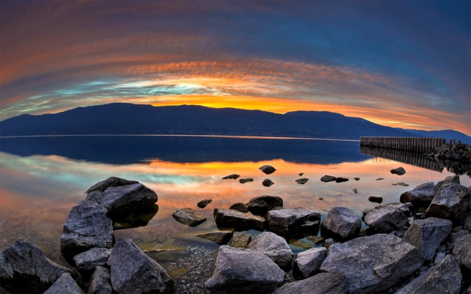 Sunset on Lake Okanagan by lucasjungmann1