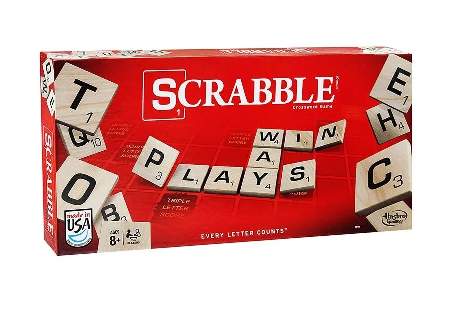 Scrabble game at home for the fall