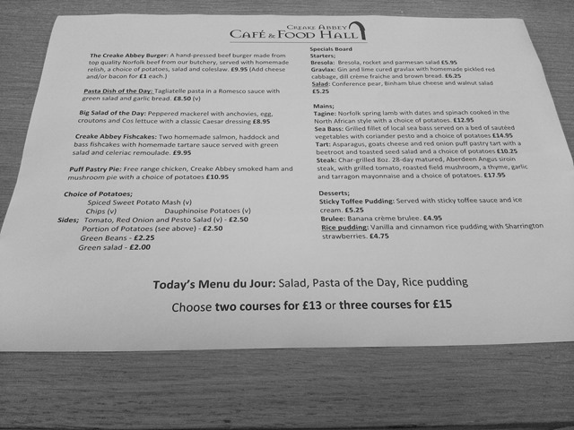 Creake Abbey Cafe and Foodhall eating out Burnham