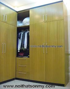 Tủ áo gỗ chữ L