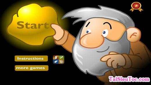 Ông lão trong game đào vàng cho iPhone