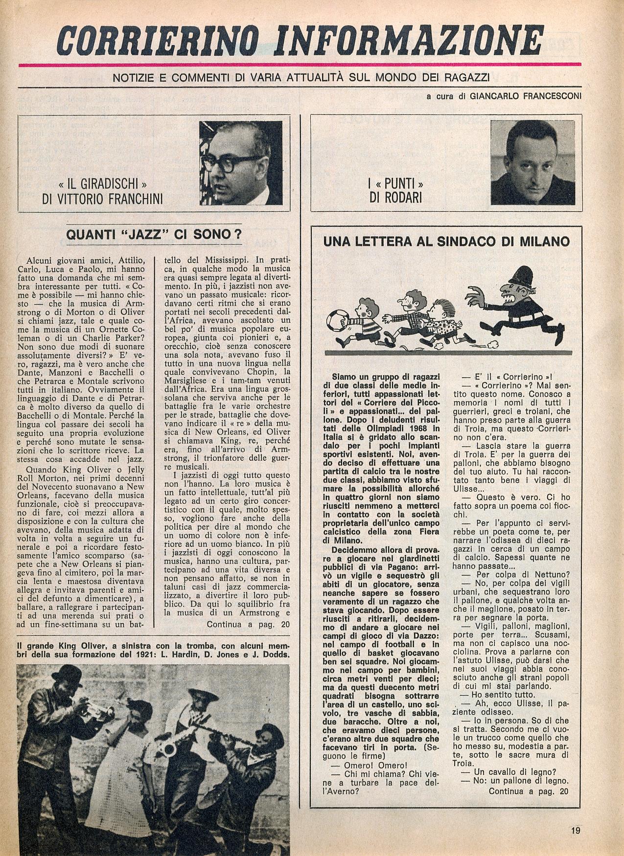 Corrierino e giornalino quanti jazz ci sono for Quanti deputati ci sono