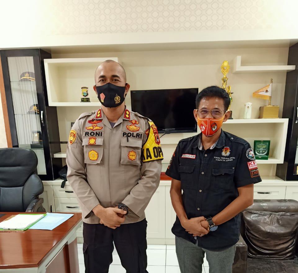 Ketua KPU Soppeng dan Jajaran Silaturahmi Ke Kapolres Soppeng