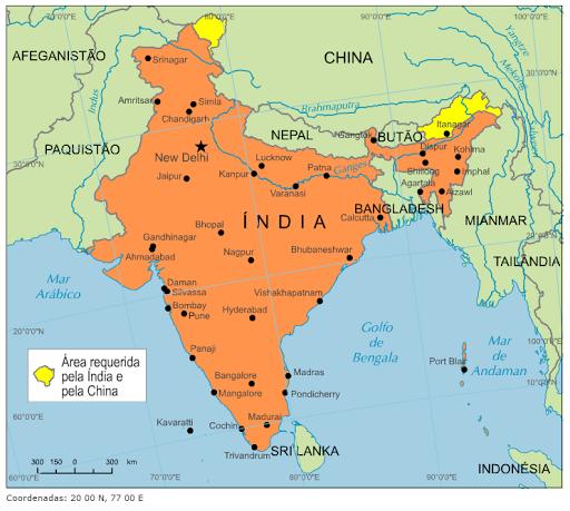 mapa da india Blog de Geografia: Mapa da Índia mapa da india