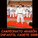 CAMPEONATO ARAGÓN INFANTIL CADETE 2009