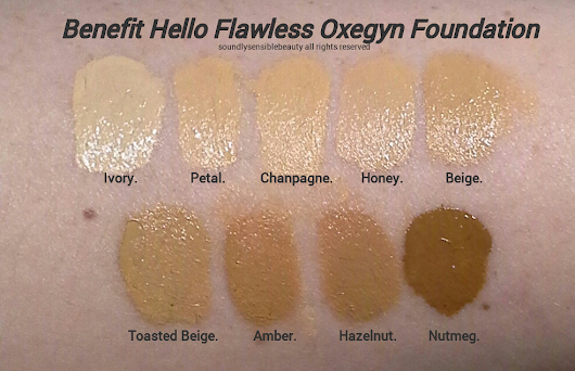 Benefit Oxygen WOW Foundation; Review & Swatches of Shades