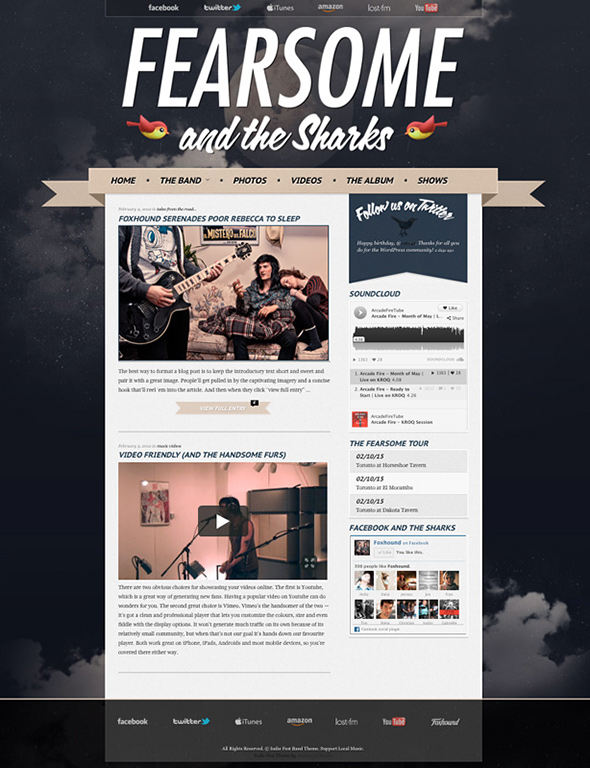 Indie Fest Band WordPress Theme