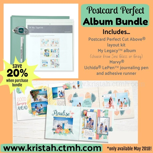 2018-5 postcard perfect Album Bundle