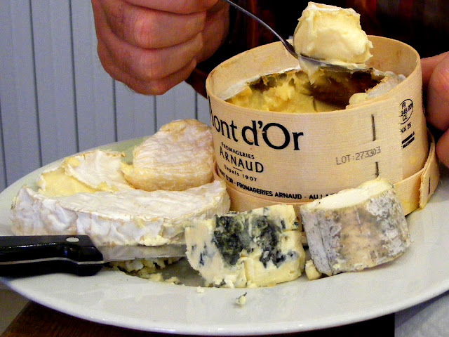Cheese platter in a workers restaurant, Indre et Loire, France. Photo by Loire Valley Time Travel.