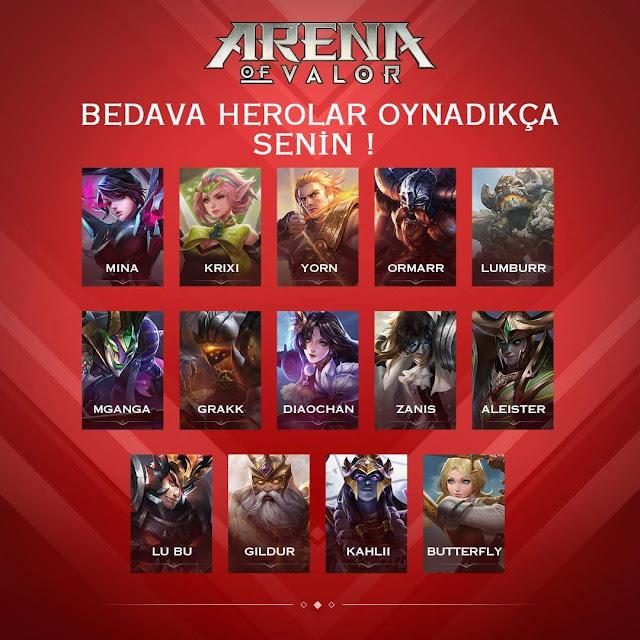 Arena of Valor Zafere Giden Yol Etkinliği İle Bedava Kahramanlar
