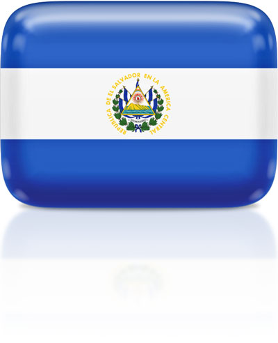 Salvadoran flag clipart rectangular