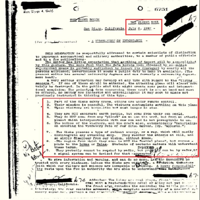O FBI declara documentos provando que os OVNIs e os seres do outro mundo são reais 02