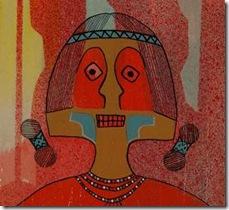 Original Painting entitled The Red Man in Journey Native American Art Native American Paintings Painting Santa Clara Pueblo Helen Hardin Tsa-Sah-Wee-Eh Little Standing Spruce