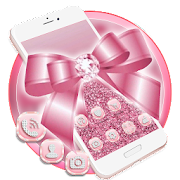 App Pink Glitter Bow Launcher Theme Live Wallpapers 1.0 APK for iPhone